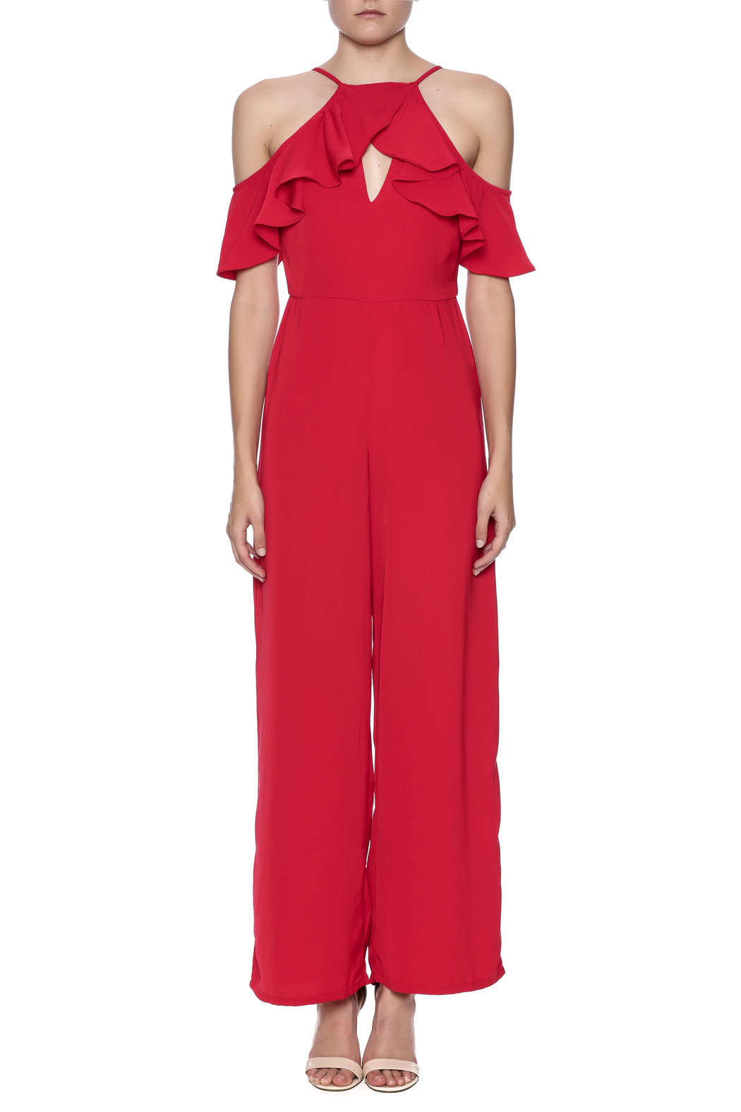 7e8f1777089 Mustard Seed Red Ruffle Jumpsuit from New York by Dor L Dor — Shoptiques