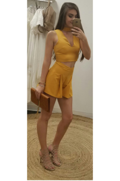 L'atiste Mustard Shorts Set - Product List Image