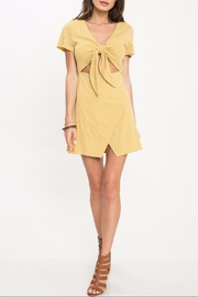 Latiste Mustard Stripe Dress - Product Mini Image