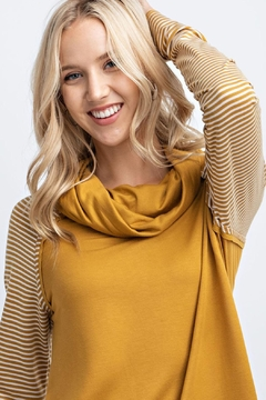 12pm by Mon Ami Mustard Stripe Sweater - Alternate List Image