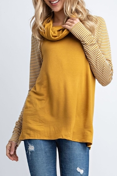 12pm by Mon Ami Mustard Stripe Sweater - Product List Image