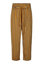LOLLYS LAUNDRY Mustard Striped Pants - Product Mini Image