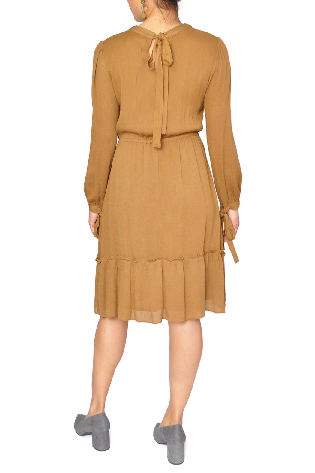 Moon River Mustard Yellow Dress - Side Cropped Image