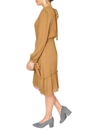 Moon River Mustard Yellow Dress - Front full body