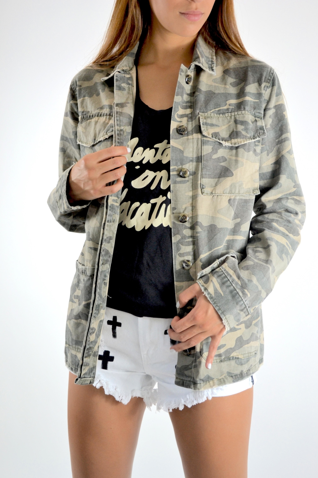 Mustard Seed Amen Camo Jacket from Florida by True Joy — Shoptiques