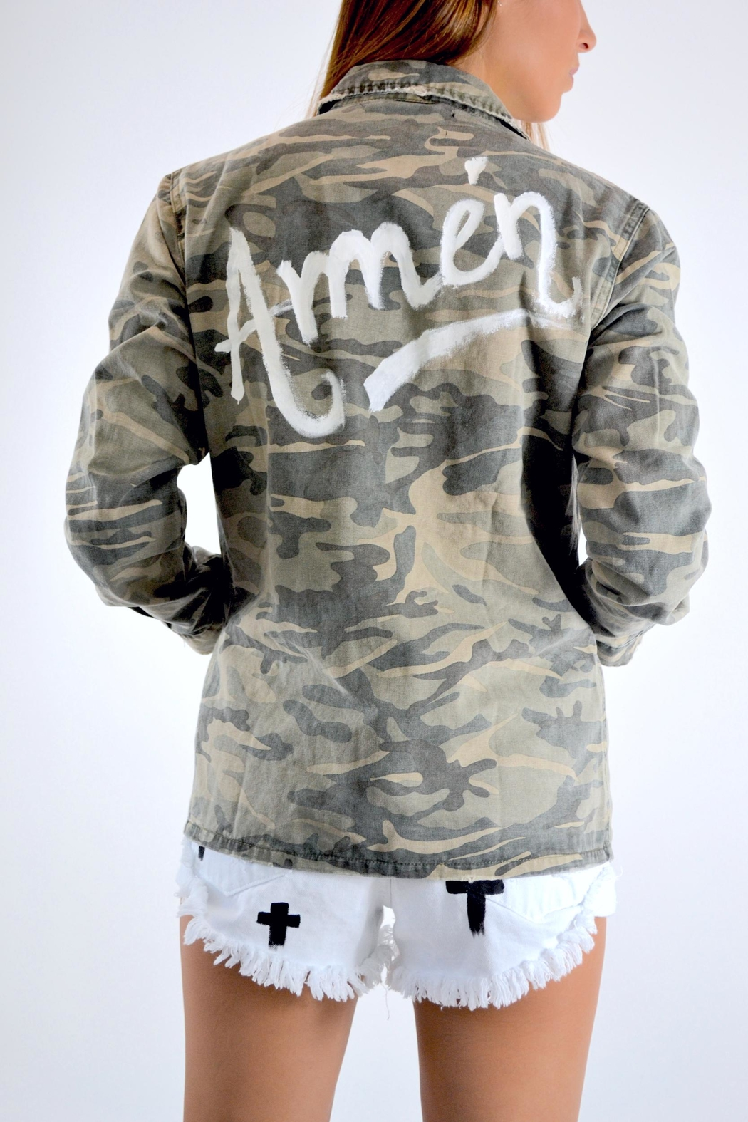 Mustard Seed Amen Camo Jacket - Front Cropped Image