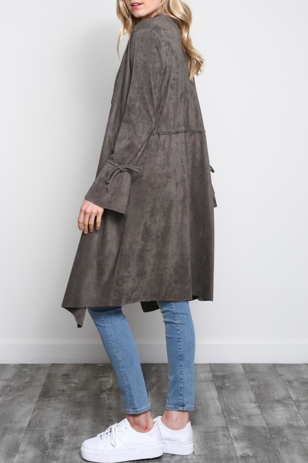 Mustard Seed Bell-Sleeve Sueded Duster - Front Full Image
