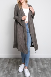 Mustard Seed Bell-Sleeve Sueded Duster - Back cropped