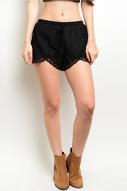 Mustard Seed Black Crochet Shorts - Product Mini Image
