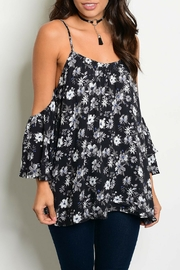 Mustard Seed Black Floral Top - Product Mini Image