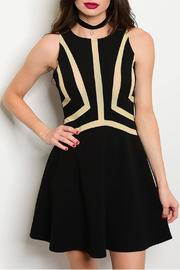 Mustard Seed Black Skater Dress - Product Mini Image