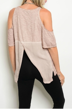 Mustard Seed Blush Cold Shoulder Top - Alternate List Image