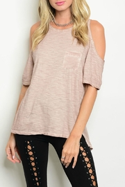 Mustard Seed Blush Cold Shoulder Top - Product Mini Image