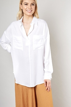 Mustard Seed Button Down Blouse - Product List Image