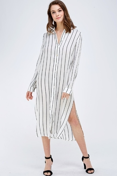 Mustard Seed Button-Down Shirt Dress - Product List Image