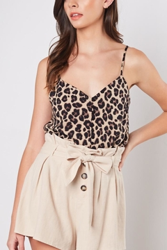 Mustard Seed Buttoned Leopard Cami - Product List Image