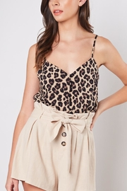 Mustard Seed Buttoned Leopard Cami - Product Mini Image
