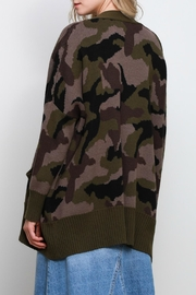 Mustard Seed Camo Oversize Cardigan - Side cropped