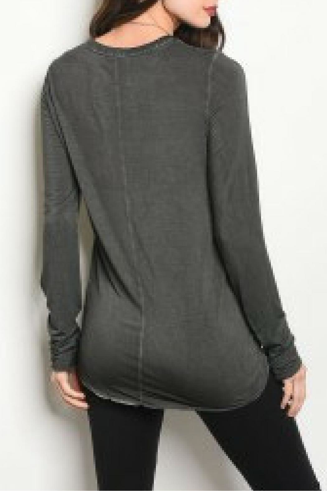 Mustard Seed Charcoal Brown Top - Front Full Image