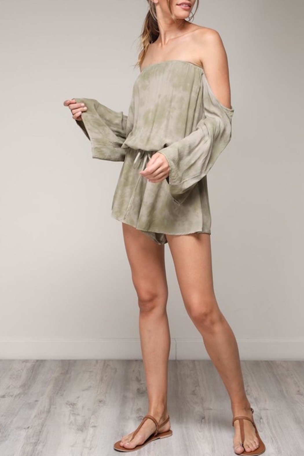 Mustard Seed Cold Shoulder Romper - Main Image