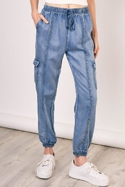 Mustard Seed Denim Jogger Pant - Product Mini Image