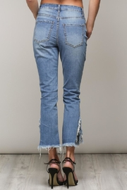 Mustard Seed Distressed Frayed Jeans - Side cropped