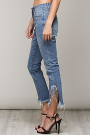 Mustard Seed Distressed Frayed Jeans - Front full body