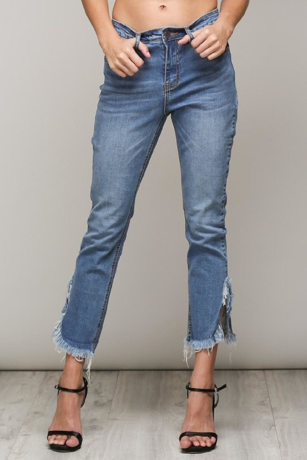 Mustard Seed Distressed Frayed Jeans - Main Image