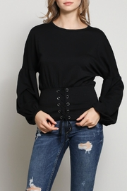 Mustard Seed Eyelet Belted Top - Product Mini Image