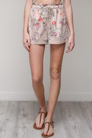 Mustard Seed Floral Satin Shorts - Product Mini Image