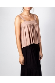 Mustard Seed Flowy Box Top - Front full body