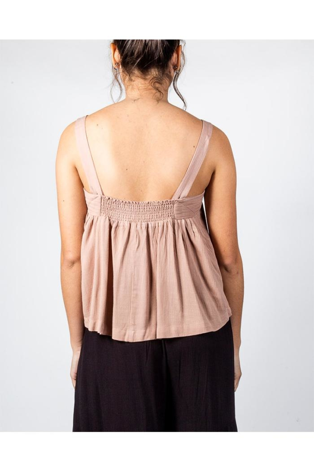 Mustard Seed Flowy Box Top - Back Cropped Image