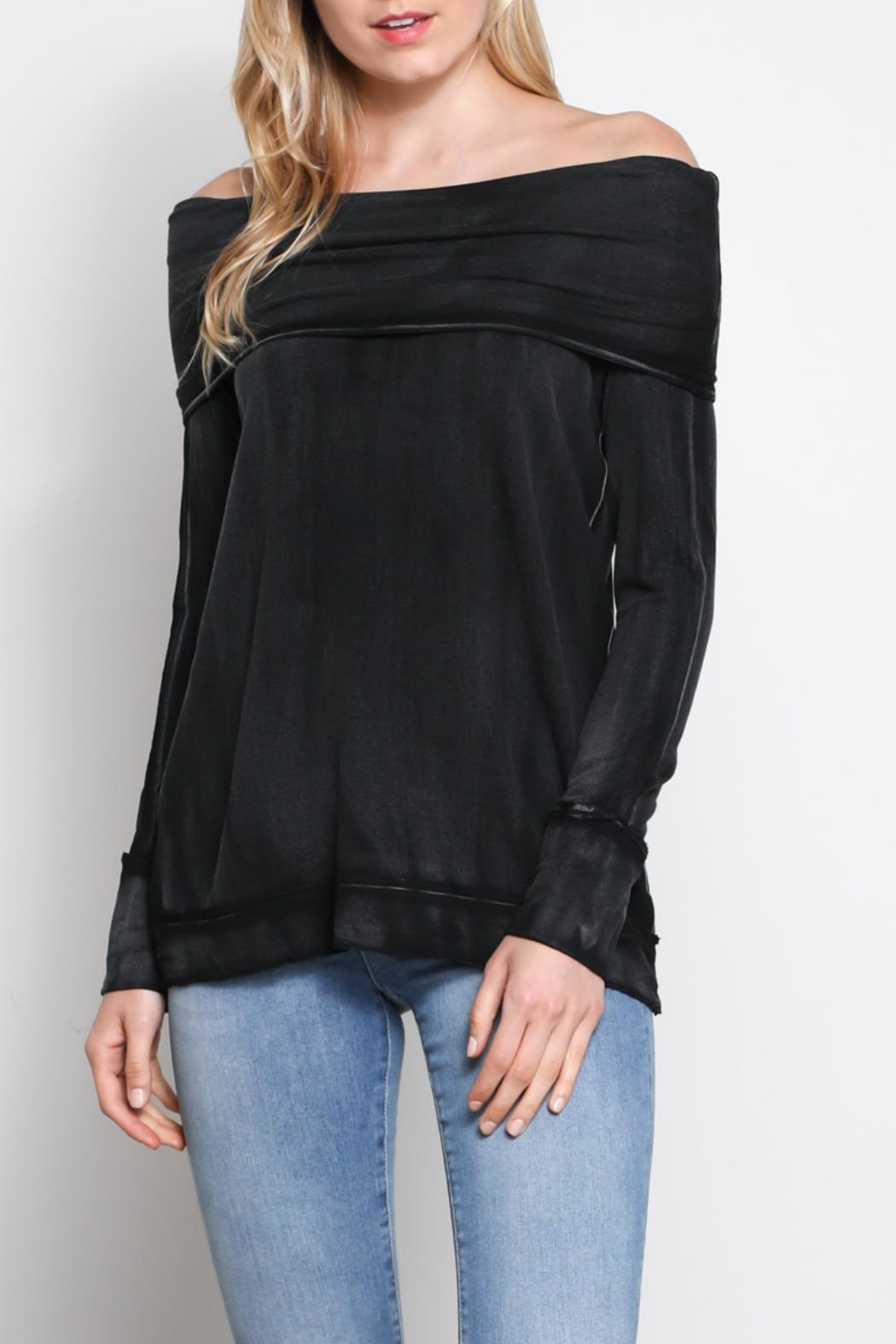 Mustard Seed Folded Off-The-Shoulder Top - Main Image