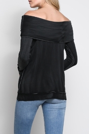Mustard Seed Folded Off-The-Shoulder Top - Front full body