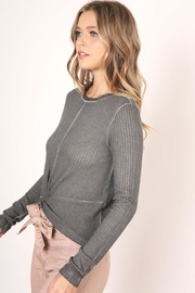 Mustard Seed Front Knot Top - Front full body