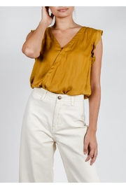 Mustard Seed Gold Satin Top - Product Mini Image