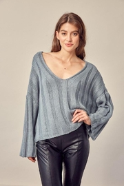 Mustard Seed Knitted Neck Line Detail Sweater - Front full body