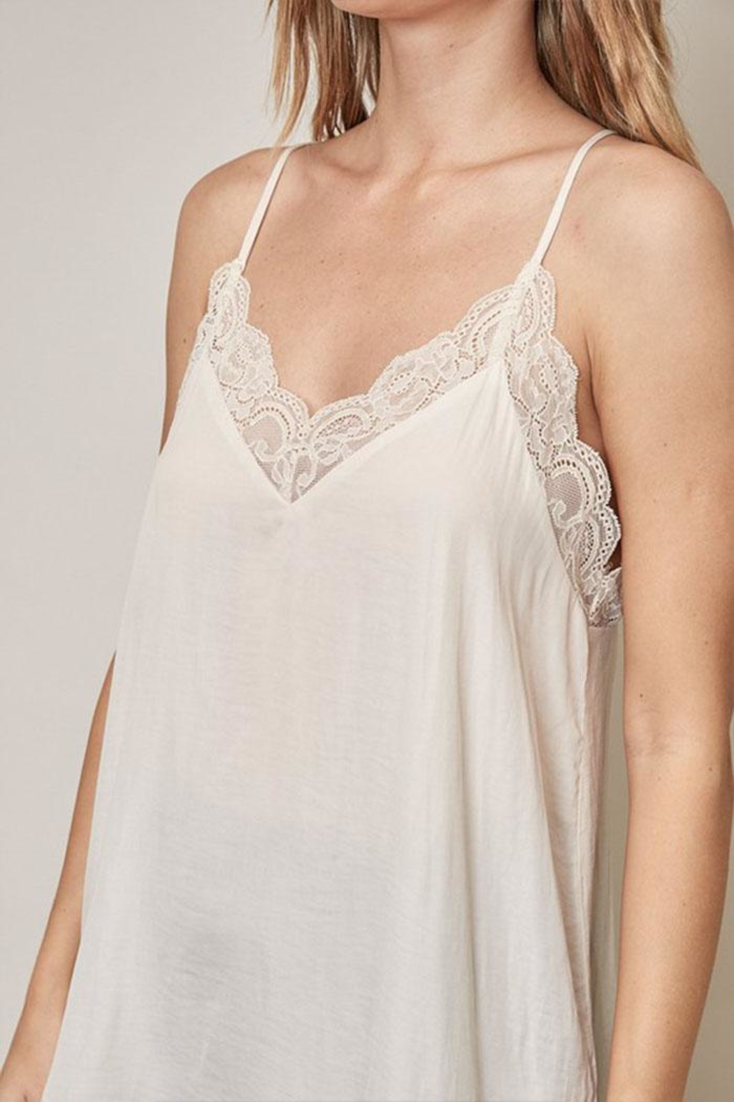 Mustard Seed Lace Cami Top - Back Cropped Image