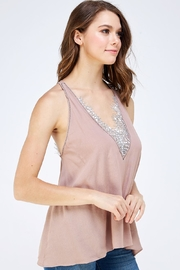 Mustard Seed Lace Detail Cami - Side cropped