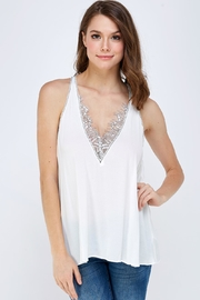 Mustard Seed Lace Detail Cami - Front cropped