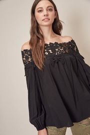 Mustard Seed Lace Off-The-Shoulder Top - Product Mini Image