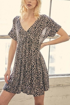 Shoptiques Product: Leopard Tunic-Dress With-Pockets