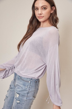 Shoptiques Product: Lightweight Ruched Sweater