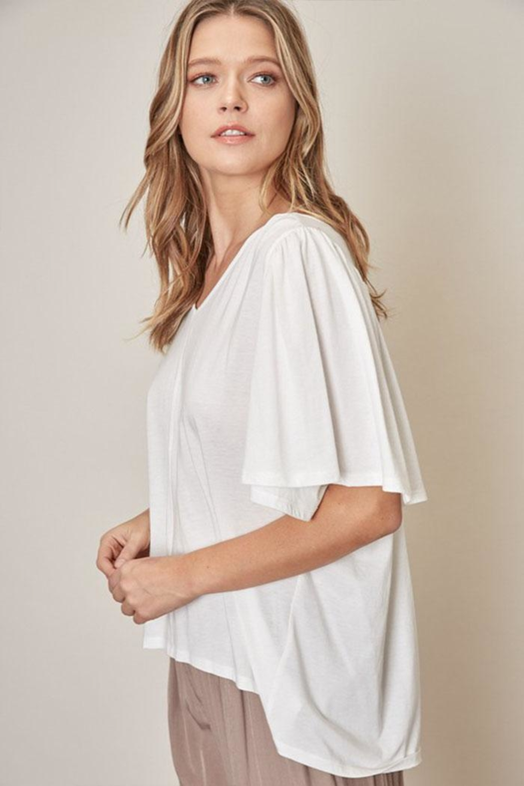 Mustard Seed Loose Fit Tee - Side Cropped Image