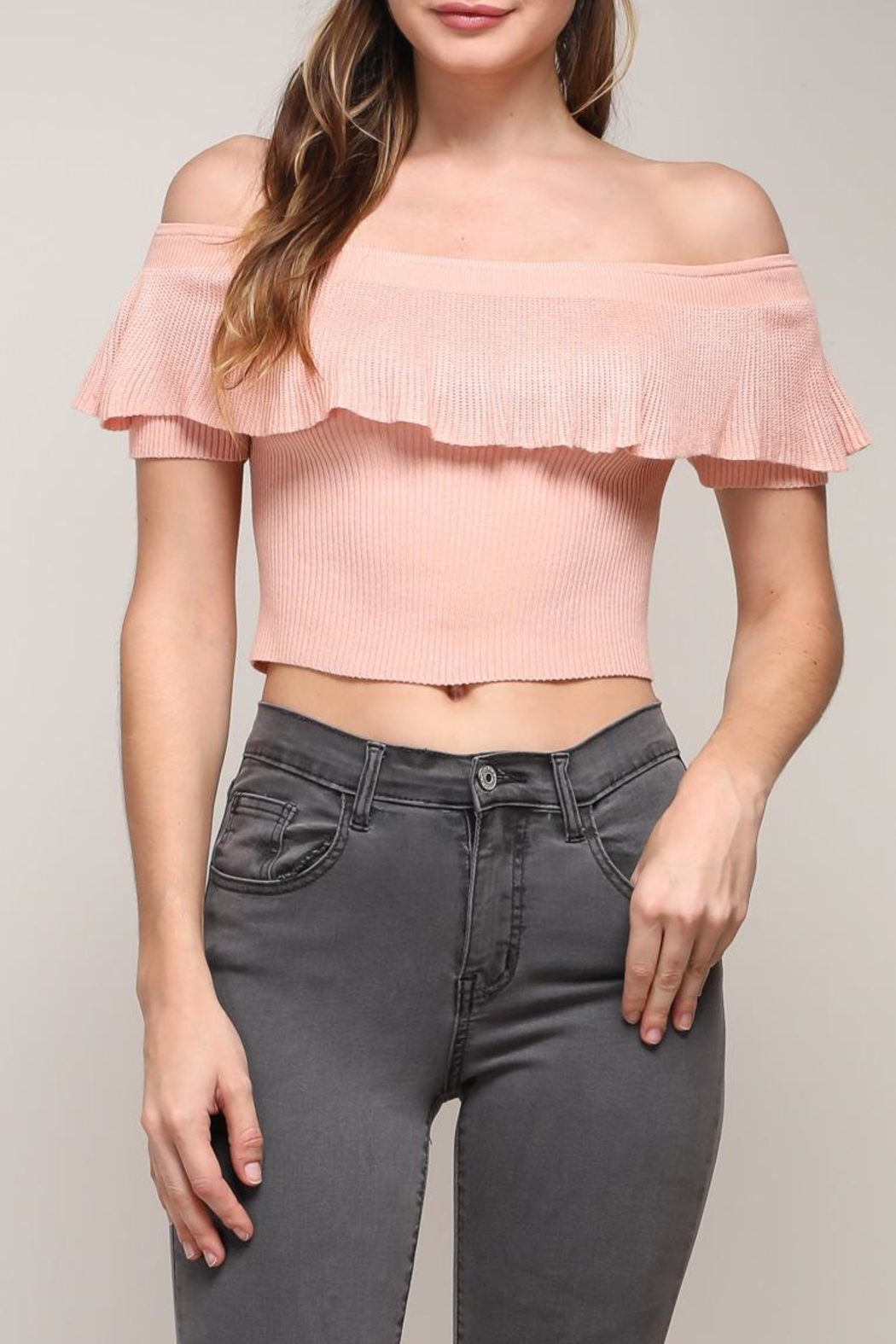 Mustard Seed Off Shoulder Top - Front Cropped Image