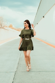 Mustard Seed Olive Dress - Front cropped