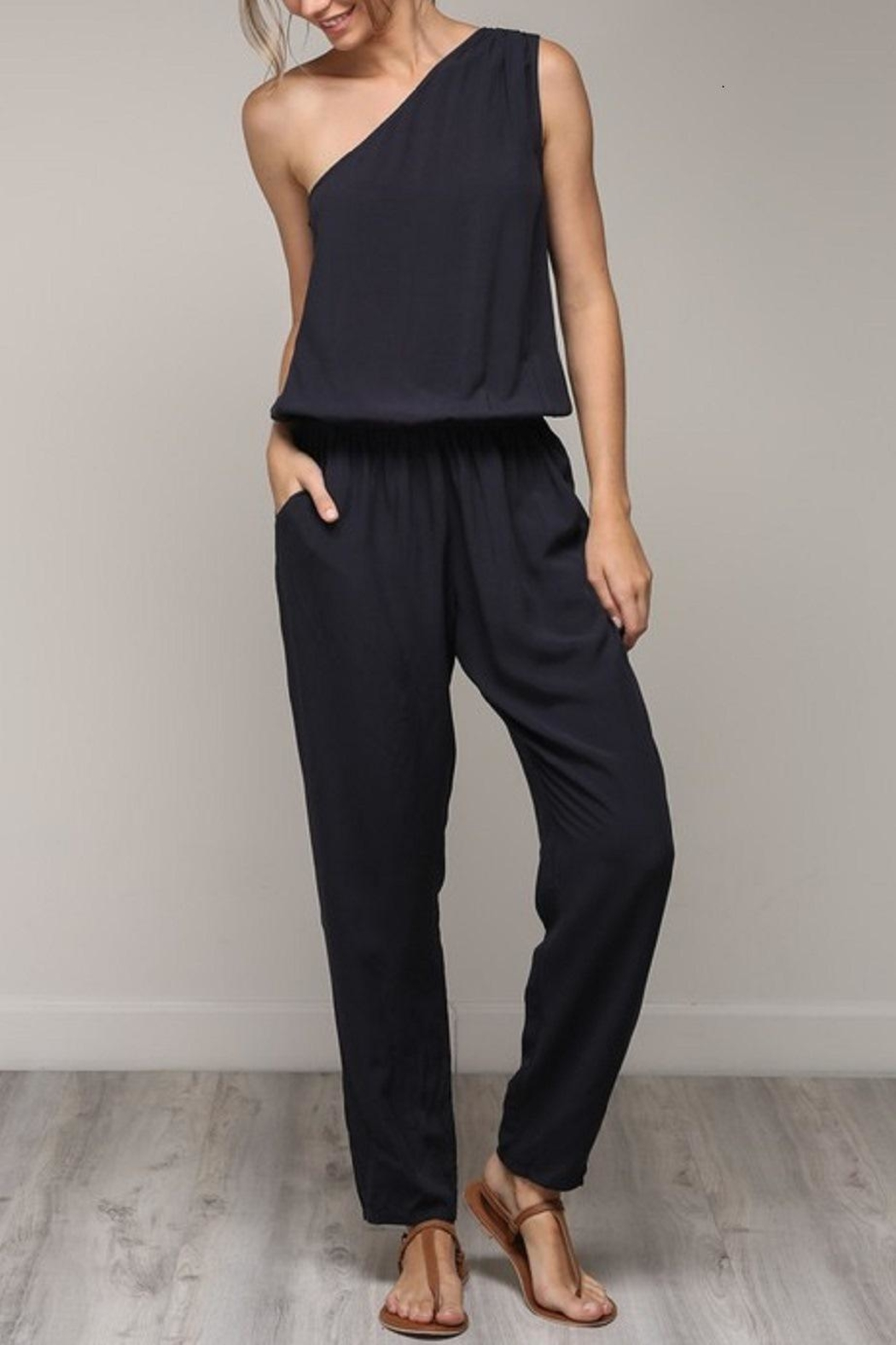 2a43a0210516 Mustard Seed One Shoulder Jumpsuit from Boston by Addicted — Shoptiques