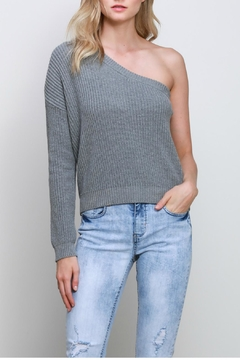 Mustard Seed One Shoulder Sweater - Product List Image