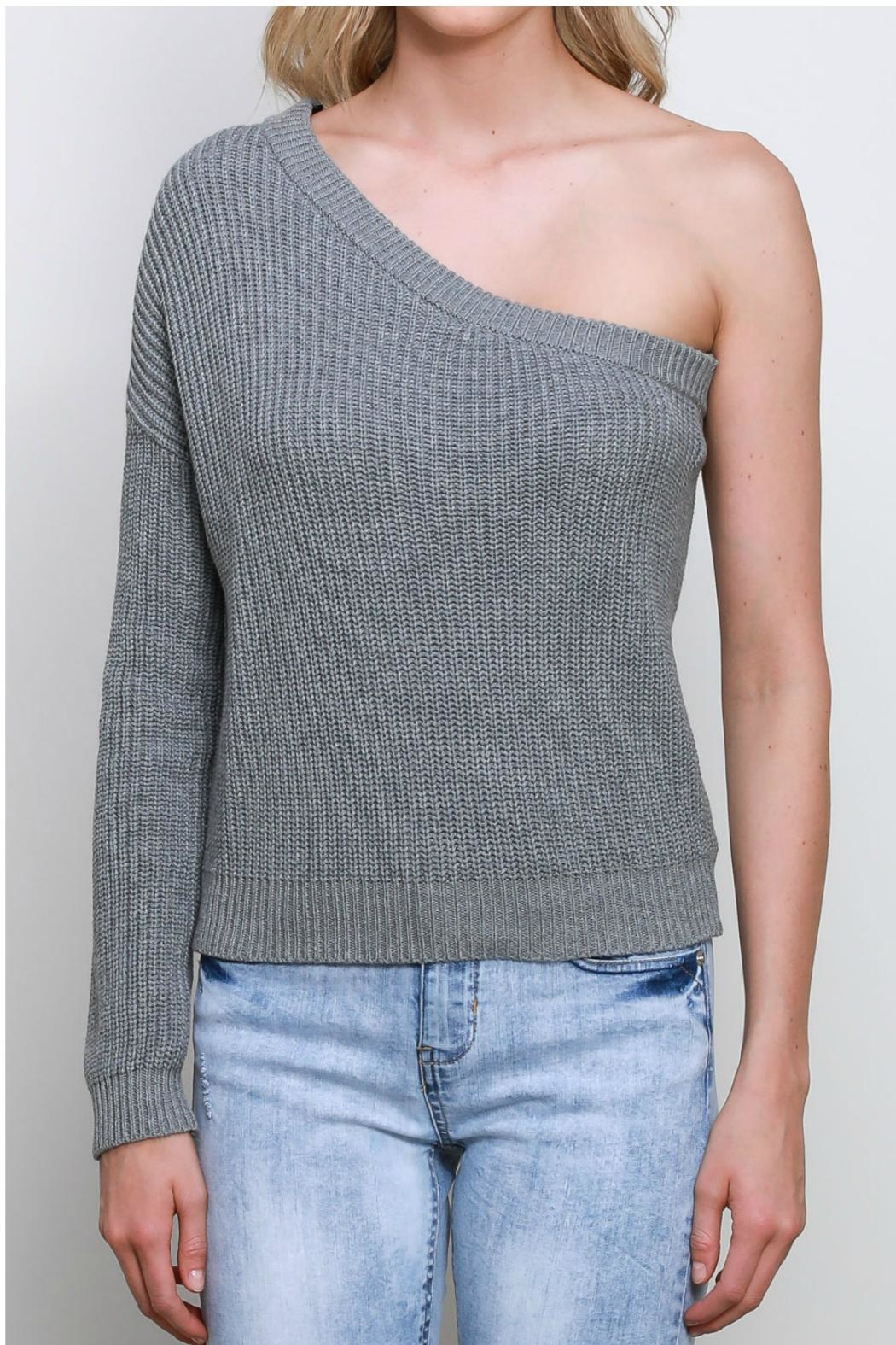 Mustard Seed One Shoulder Sweater - Front Full Image