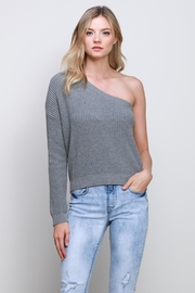 Mustard Seed One Shoulder Sweater - Product Mini Image